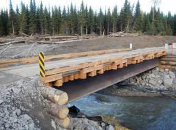 Gavin Lake Bridge rebuild Sep 30/14