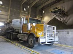 Loading first truckloads of concentrate - Feb 27, 2015